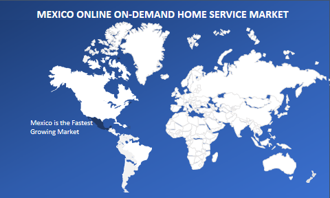 Mexico online on-demand home service market